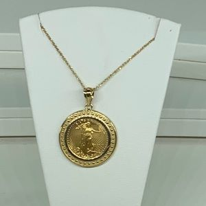 Jewelry - 22k gold American Eagle Coin Pendant
